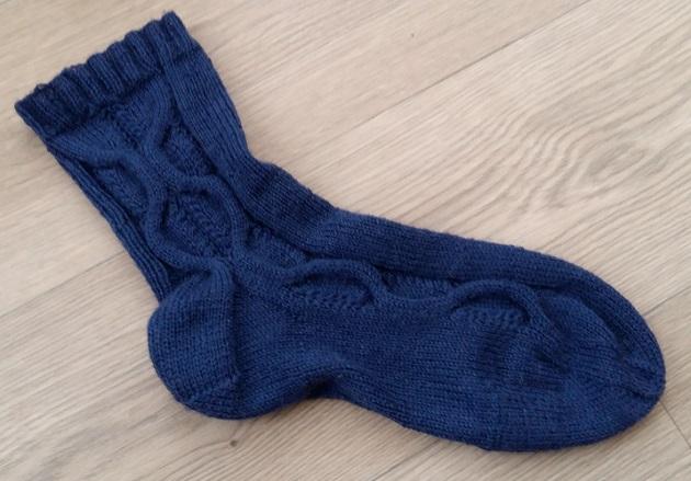 sokken breien met kabels